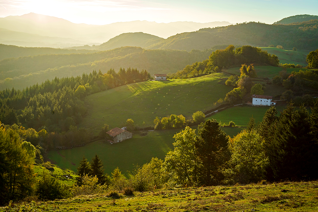 Valle de Navarra al atardecer
