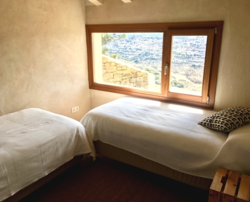Vista de habitación doble de la casa rural