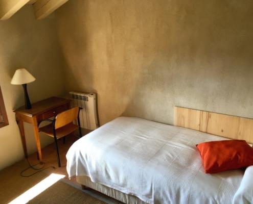 Vista de habitación individual de la casa rural